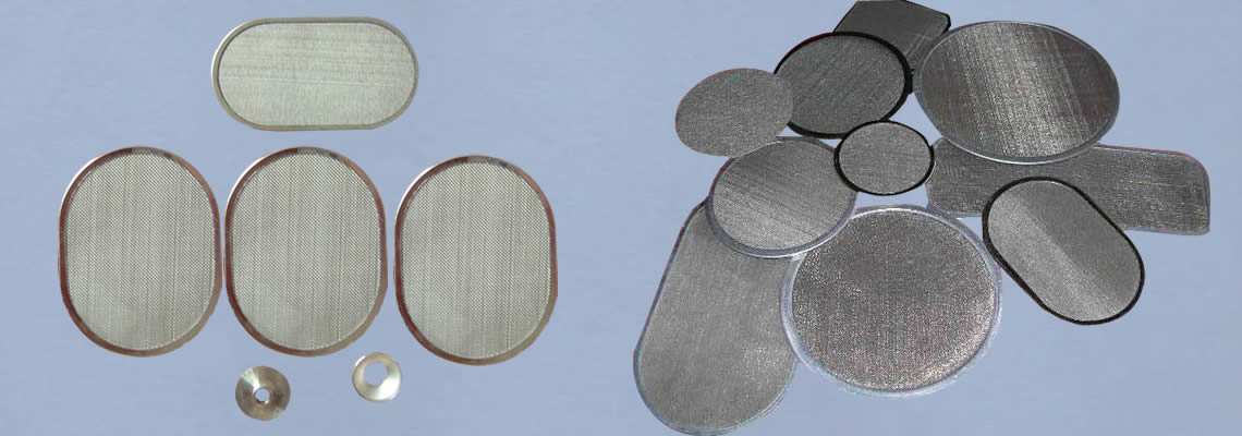 Different kinds of stainless steel filter disc.