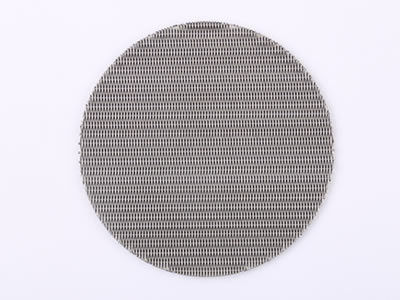 There is a dutch wire mesh filter disc.