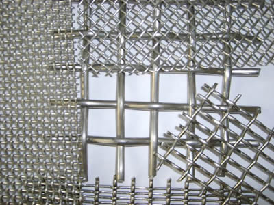 There are several stainless steel crimped wire mesh sheets with different sizes.