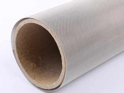 There is a 40 mesh twill weave stainless steel wire mesh roll.